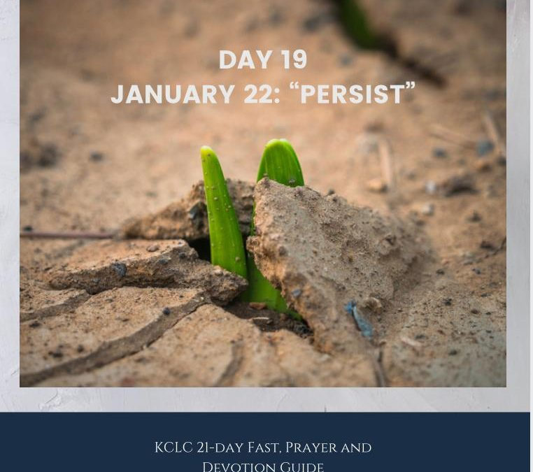 Kingsway 21-day Fast, Prayer and Devotion Guide – Day 19