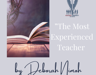 "Week 14 Devotion – ""The Most Experienced Teacher"""